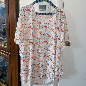 "🌴NWT - LuLaRoe Woman's Flamingo ""Morgan"" Shirt"